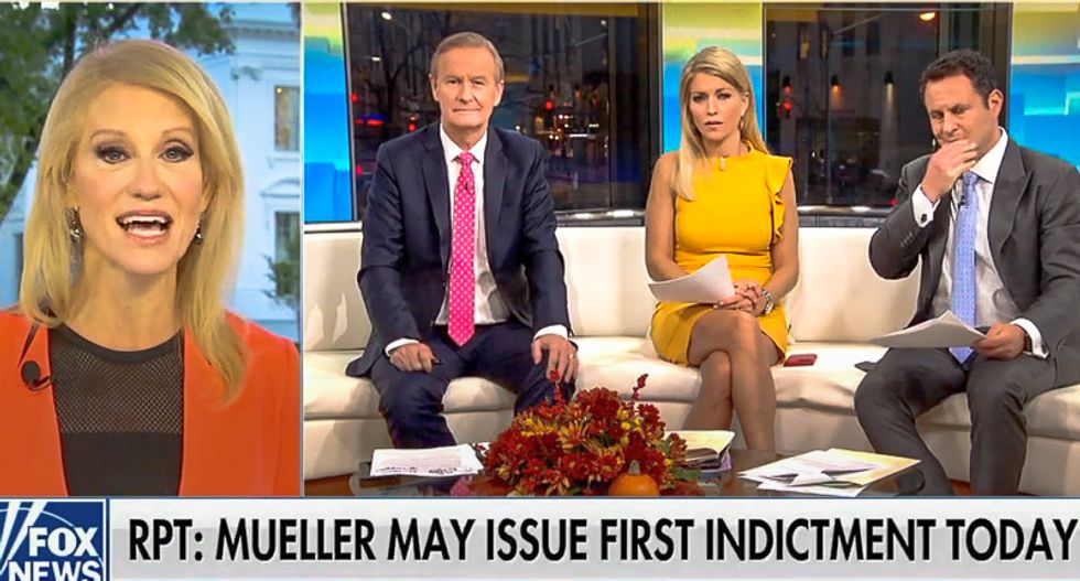 Conway unhinged after indictment: Trump 'focused on other things' -- and his six Russia tweets prove it