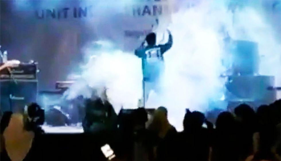 WATCH: Crowd screams as Indonesian rock band swept away by tsunami