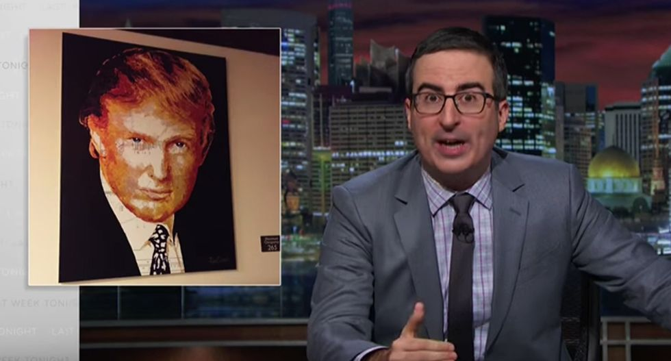 John Oliver: Trump's scandals are way worse than Hillary's — and voters should be 'f*cking outraged'