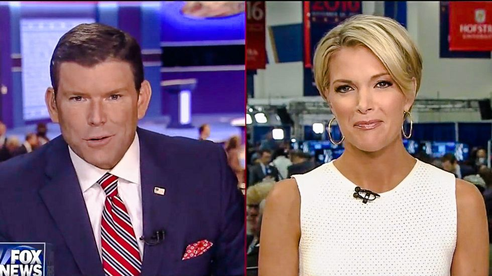 Oh snap: Megyn Kelly hopes Trump will 'speak to the journalists in this room' after Sean Hannity