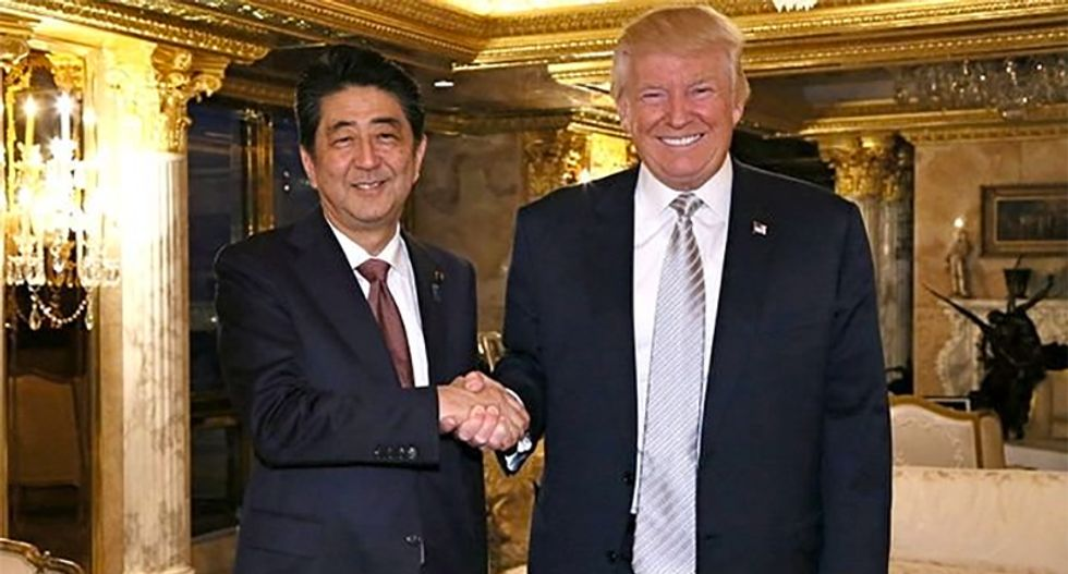 Trump says he's fine with Japan negotiating truce with Iran -- after he broke treaty