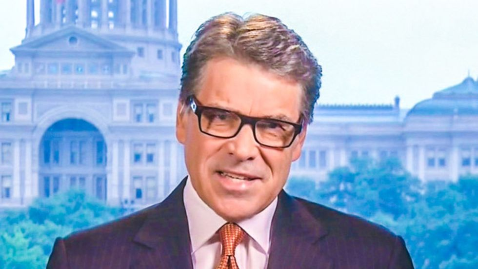 ABC cuts off Rick Perry's conspiracy rant about Obama, immigrants, drones, and hurricanes