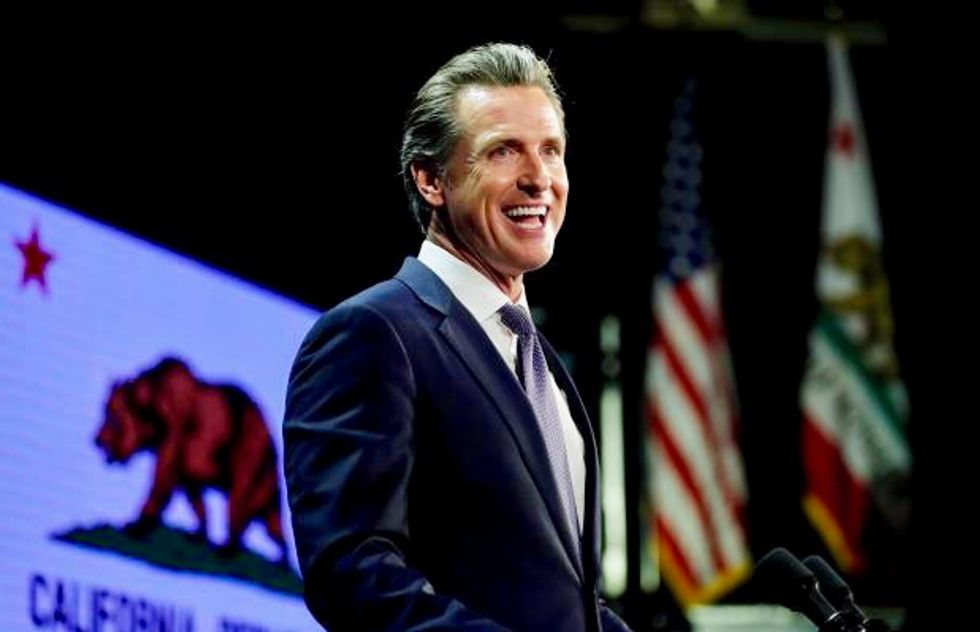 California Governor Newsom swipes at Trump, cuts water, rail projects