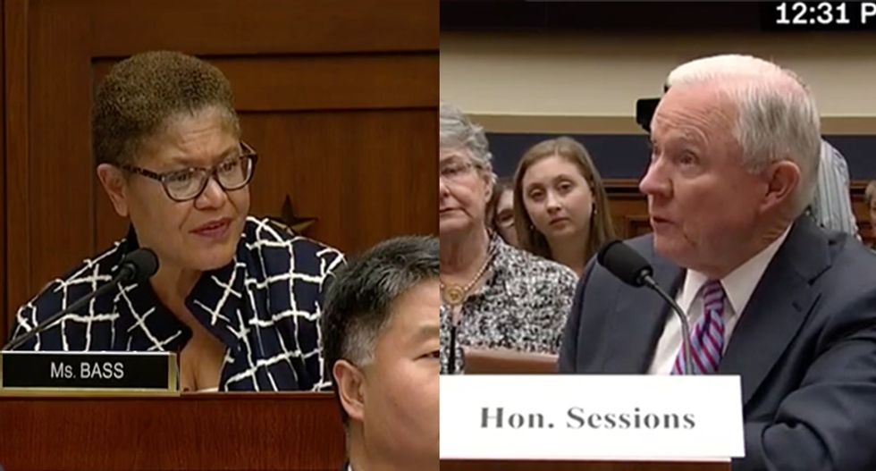 Rep. Karen Bass blasts Jeff Sessions over Justice Department report on 'black identity extremists'