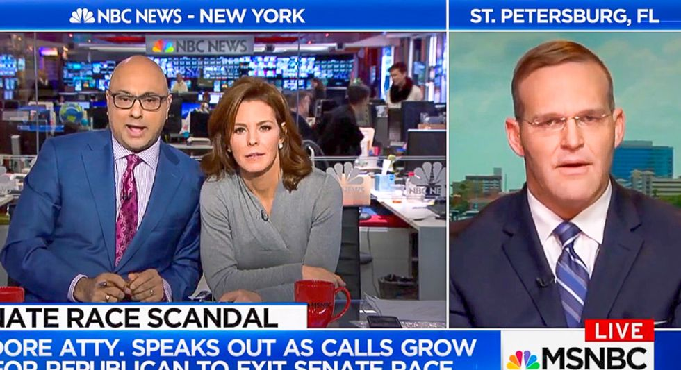 MSNBC segment goes off the rails when Roy Moore attorney suggests Canadian Muslim host would date 14-year-old