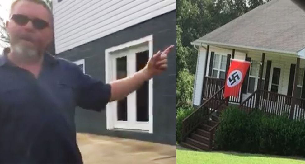 'This is Nazi f*cking America!': Watch what happens when a NC woman confronts man with swastika flag