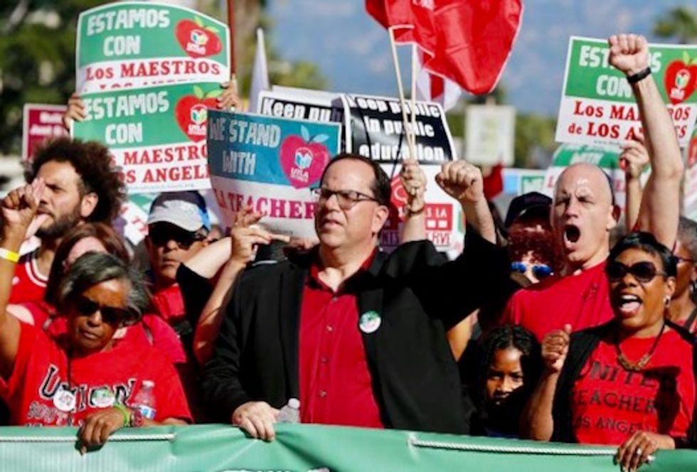 Striking Los Angeles' teachers take aim at charter schools