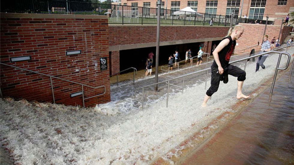 UCLA campus flooded after water main breaks and creates 20-foot-tall geyser