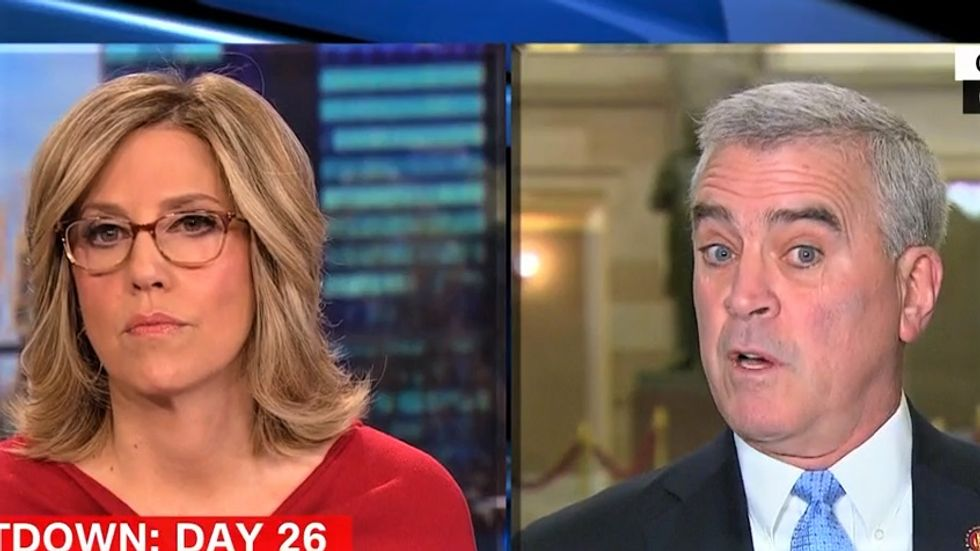 GOP lawmaker crumbles after CNN's Camerota calls BS on his border wall claims
