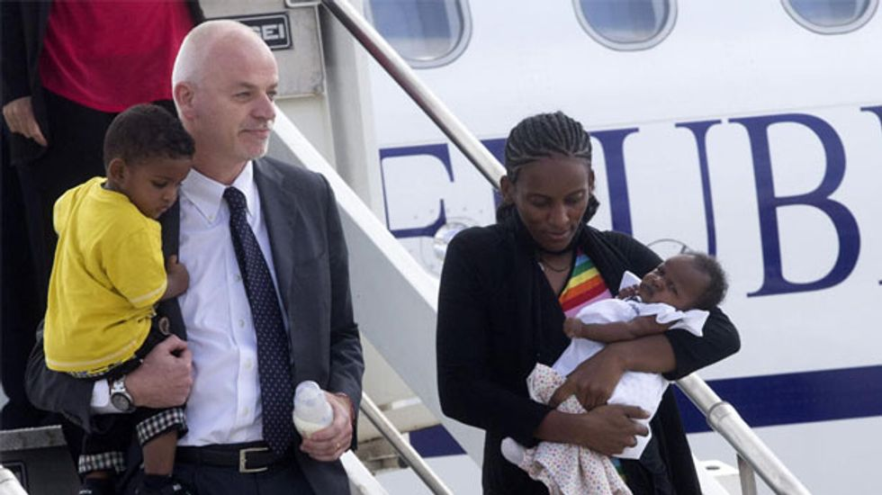 Sudanese Christian woman who faced execution for her religion arrives in the US