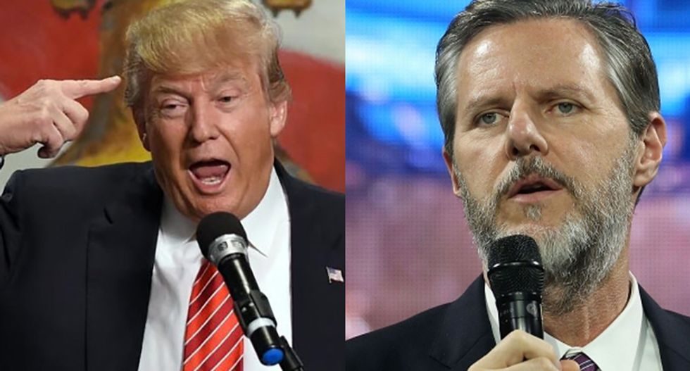 Falwell Jr. defends Trump's racist presser: He has secret videos showing 'fine people' marching with Nazis