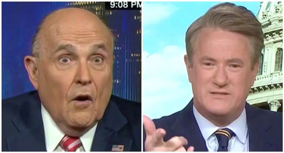 MSNBC's Morning Joe gobsmacked by Rudy Giuliani's collusion confession: 'His eyes bulged -- my eyes bulged'