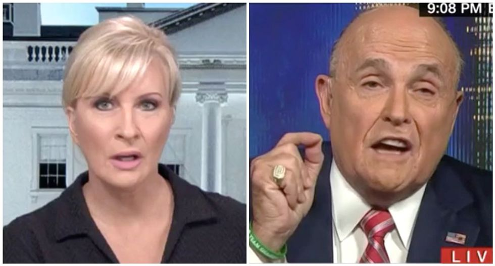 Rudy Giuliani seemed 'intoxicated' -- but don't let him off the hook for 'normalizing' Trump crimes: MSNBC's Mika