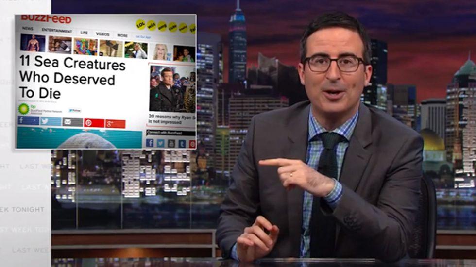 John Oliver: News sites are so desperate, their tricks are reaching Scientology-level bullsh*t