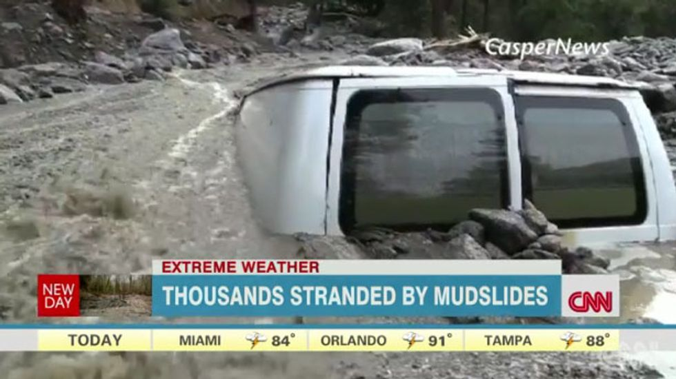 One dead, thousands stranded after southern California storms unleash mudslides