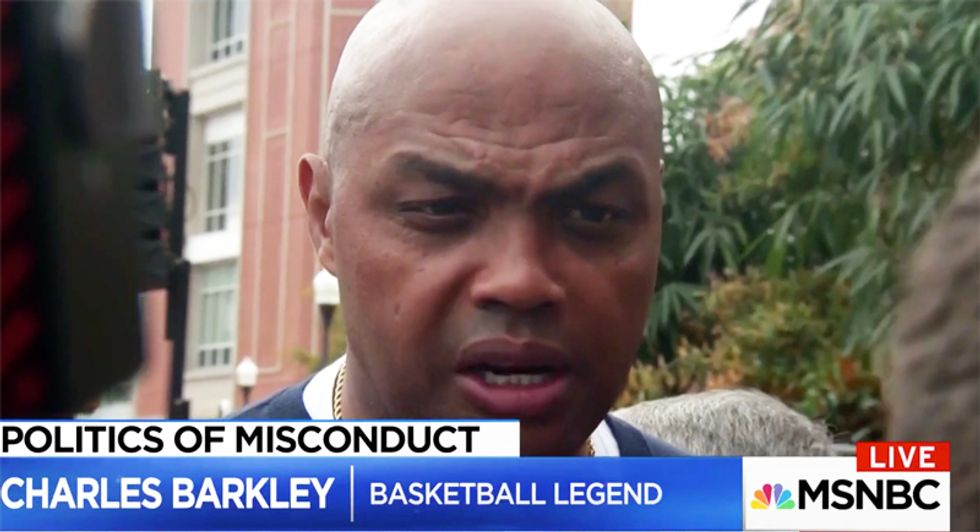 Alabama's Charles Barkley trashes Moore: 'Should have been disqualified as a white separatist before the woman stuff'