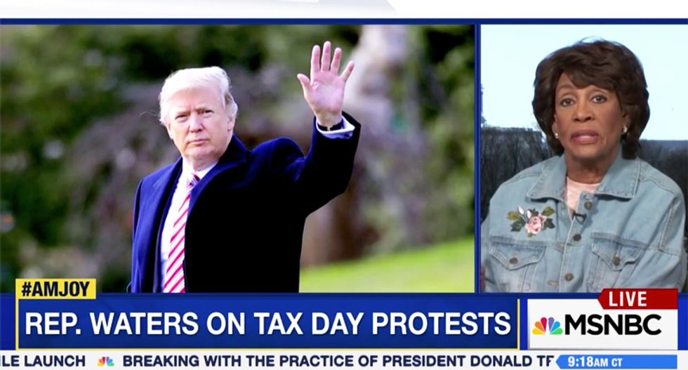 Rep. Maxine Waters rips Trump over his hidden tax returns: I don't believe that he is paying anything
