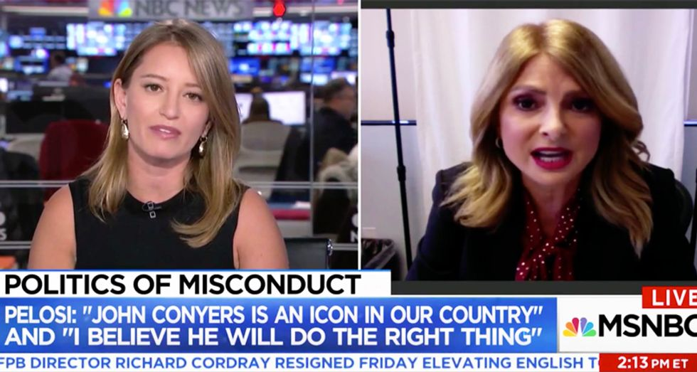 WATCH: Katy Tur blindsides Conyers' victim attorney Lisa Bloom for digging up dirt on Weinstein's accusers