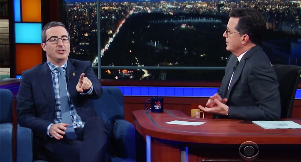 John Oliver: Trump's election was the exactly the trainwreck 'I thought it was going to be'