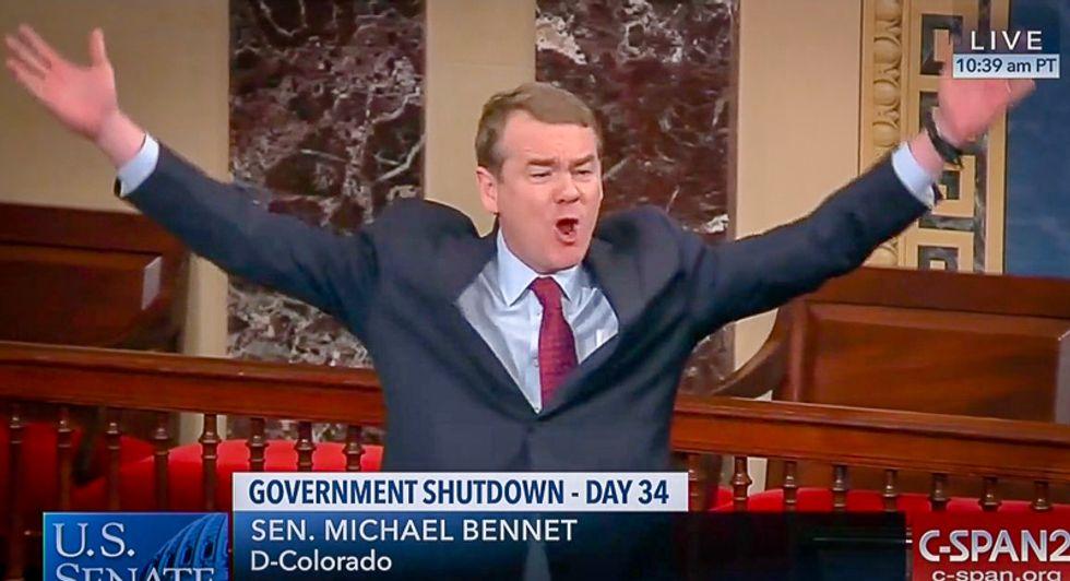 Low-key Dem senator rains hell on Ted Cruz for crying 'crocodile tears' while refusing to end the shutdown