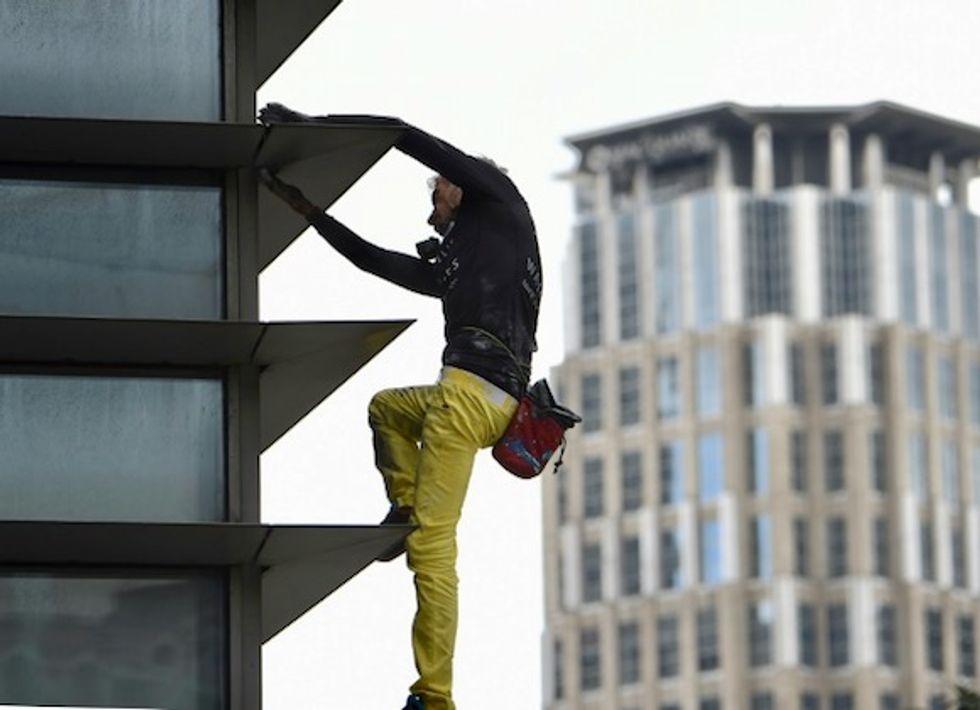 French 'spiderman' arrested after climbing Frankfurt skyscraper