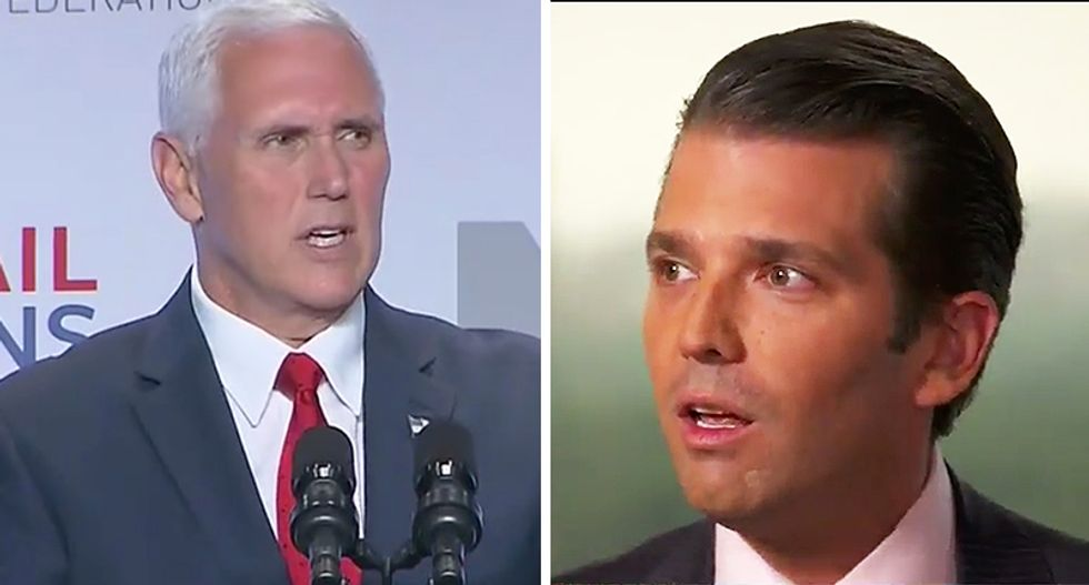 Ex-FBI agent calls out 'increasingly implausible' excuses coming from Mike Pence and Don Jr.