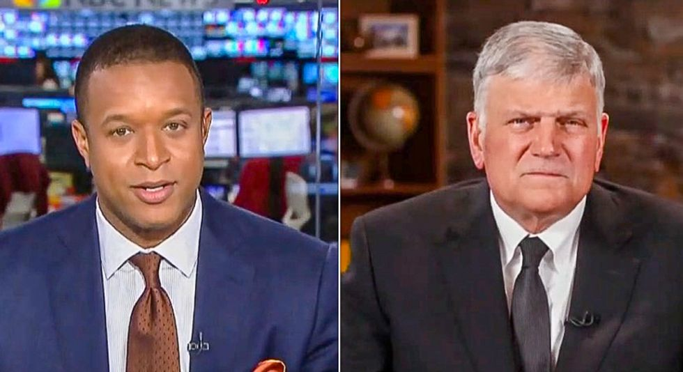 Franklin Graham claims on MSNBC that Trump never lies -- and then gets hammered for being 'willfully ignorant'
