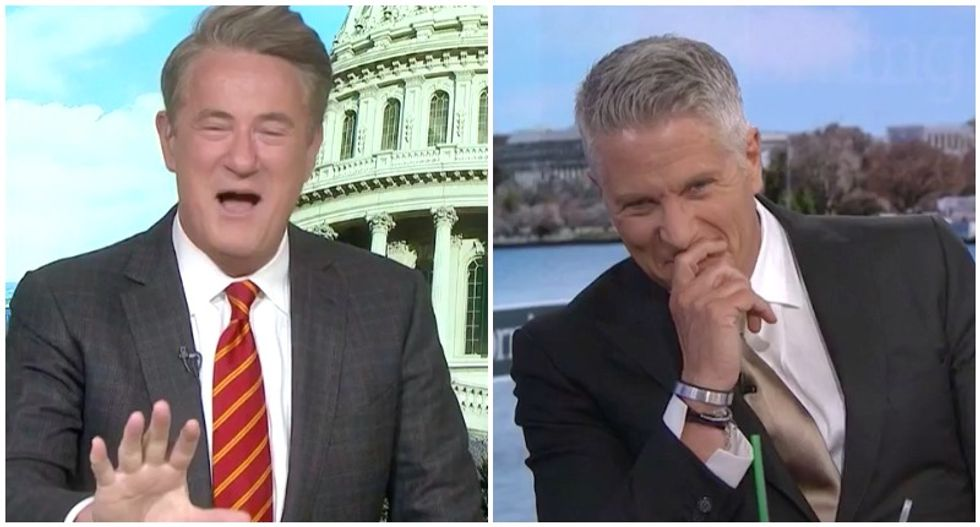 MSNBC's Morning Joe cracks up panelists with disgusting analogy for Trump's latest strategy
