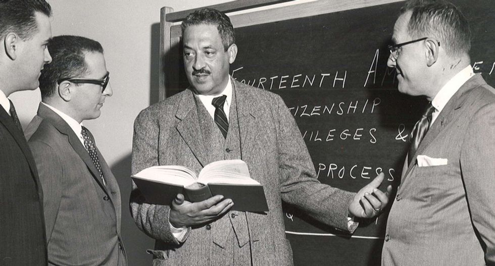 Before he was a Supreme Court justice, Thurgood Marshall was a civil rights lawyer battling the same injustices we still do today