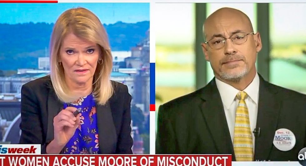 ABC host stomps Roy Moore strategist for calling victims liars: '30 other people backed up those eight women'