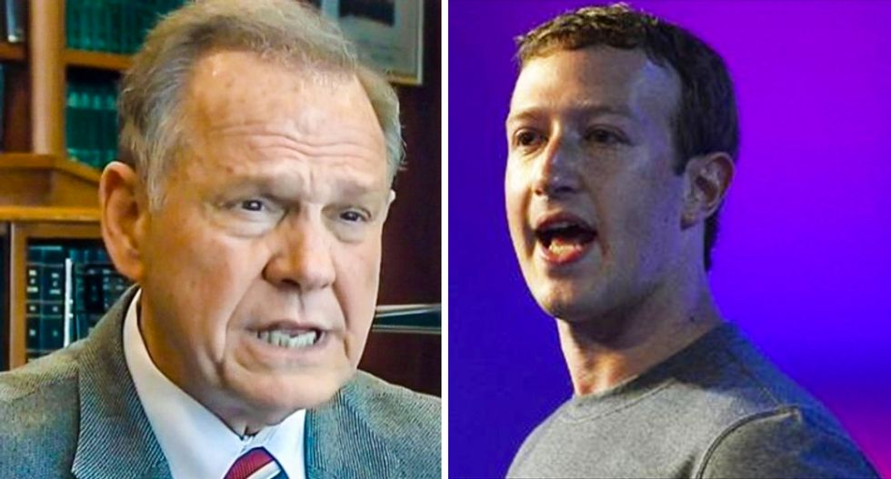 Facebook serves up sketchy ads backing Roy Moore — despite Mark Zuckerberg's promises to fix problem