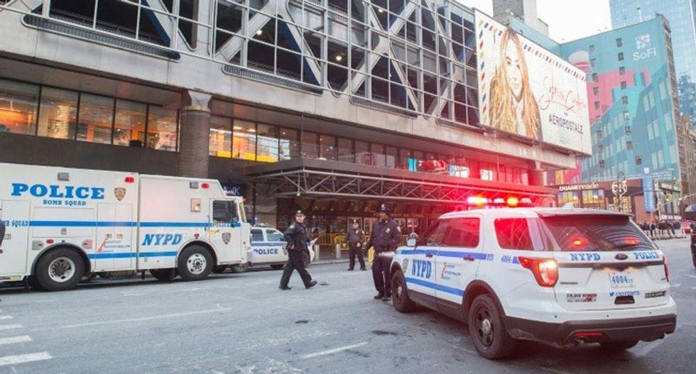Three hurt after man detonates pipe bomb strapped to his body in NY subway
