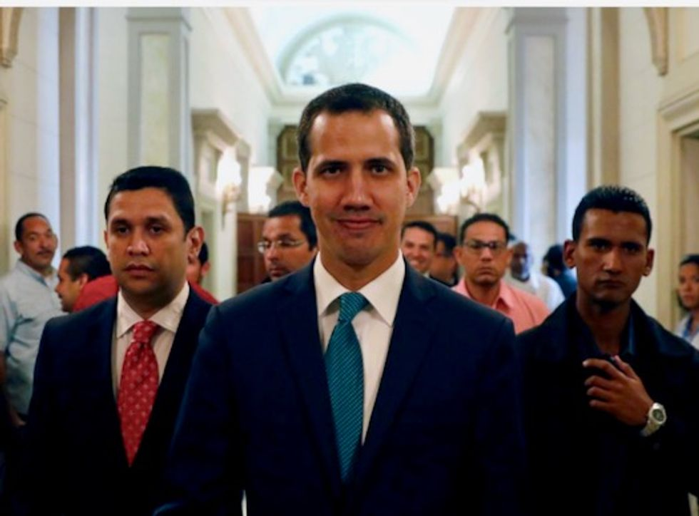 Venezuela's Guaido says Maduro trying to move public funds to Uruguay