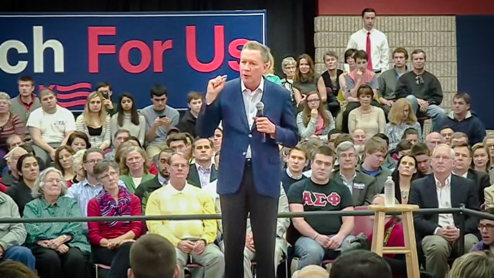 Anti-abortion GOP candidate John Kasich: Women 'left their kitchens' to campaign for me