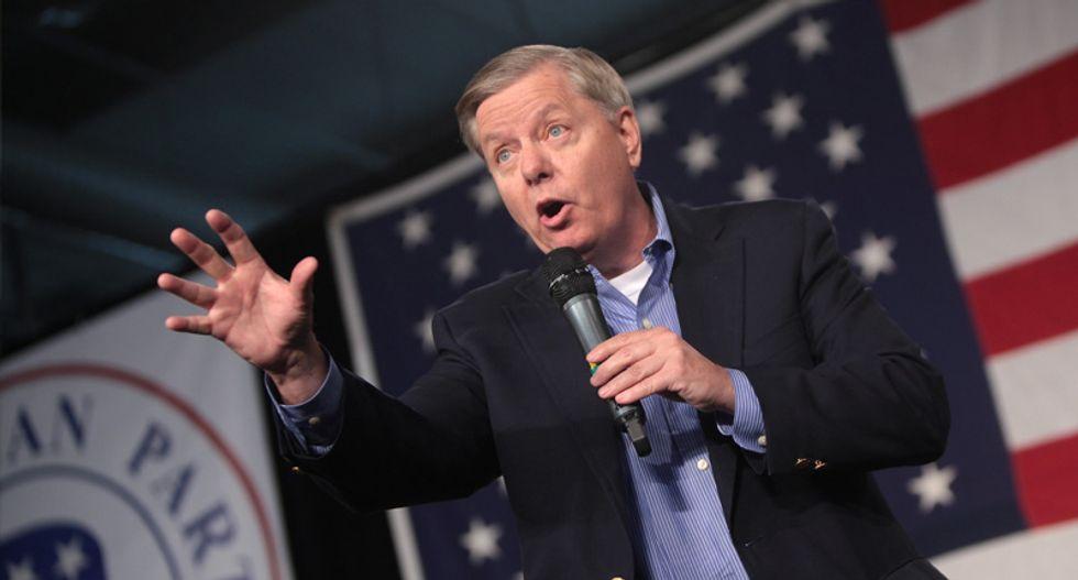 Lindsey Graham joins bipartisan Senate effort to block Trump's unilateral military dealings with Saudi Arabia