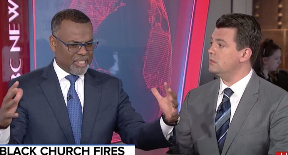 Princeton professor slams conservative on MSNBC for 'minimizing' the burning of black churches in Louisiana