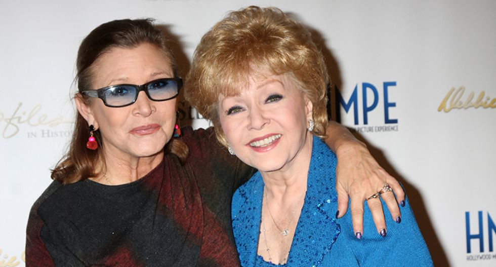 Debbie Reynolds, mother of Carrie Fisher, dies at age 84