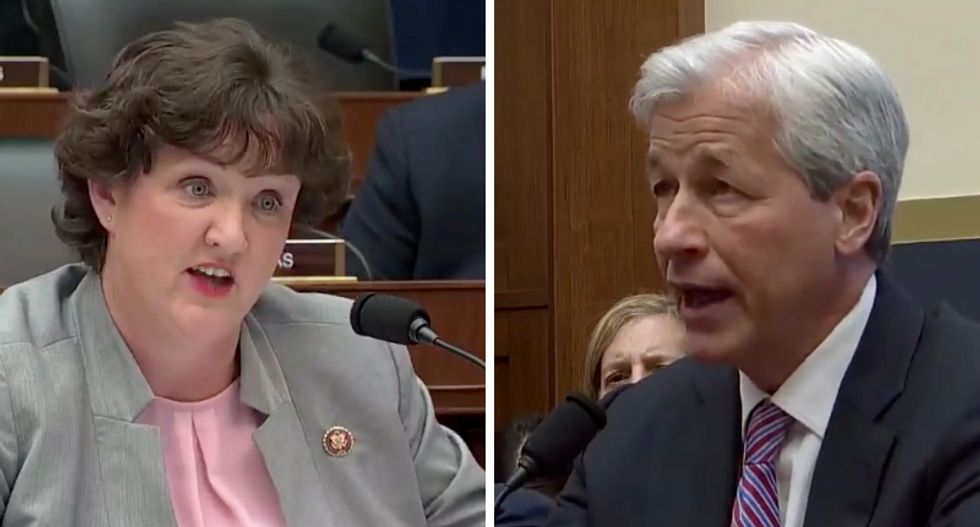 Dem corners billionaire CEO Jamie Dimon over pay disparity at JP Morgan Chase — and leaves him speechless