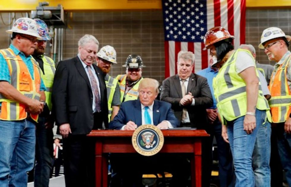 'This is the only Bush that likes me': Trump issues executive orders seeking to speed up oil and gas pipeline projects