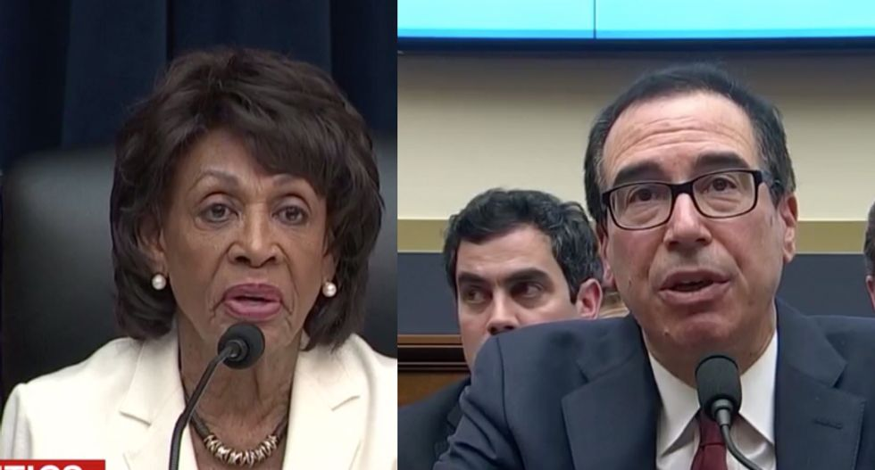 White House worried about more oversight after Treasury Secretary Mnuchin 'lost his cool' with Maxine Waters
