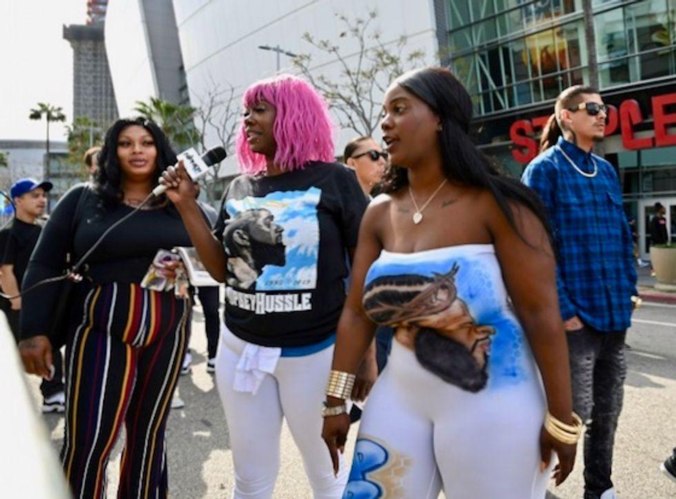 Tens of thousands remember slain rapper Nipsey Hussle