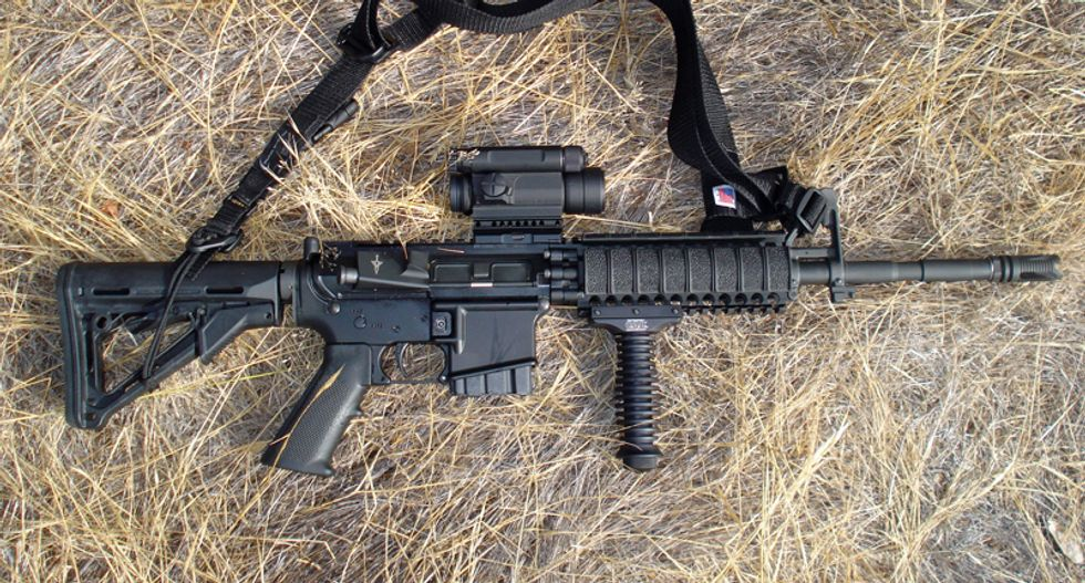 Church blesses assault weapons because 'returning Christ' will pack an AR-15
