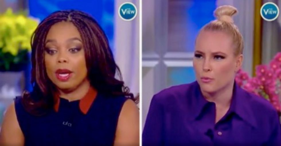 Meghan McCain confronts EPSN's Jemele Hill on 'The View' for calling President Trump a white supremacist