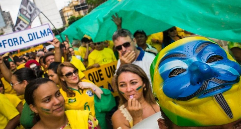Brazilian President Rousseff facing mass protests amid corruption scandal