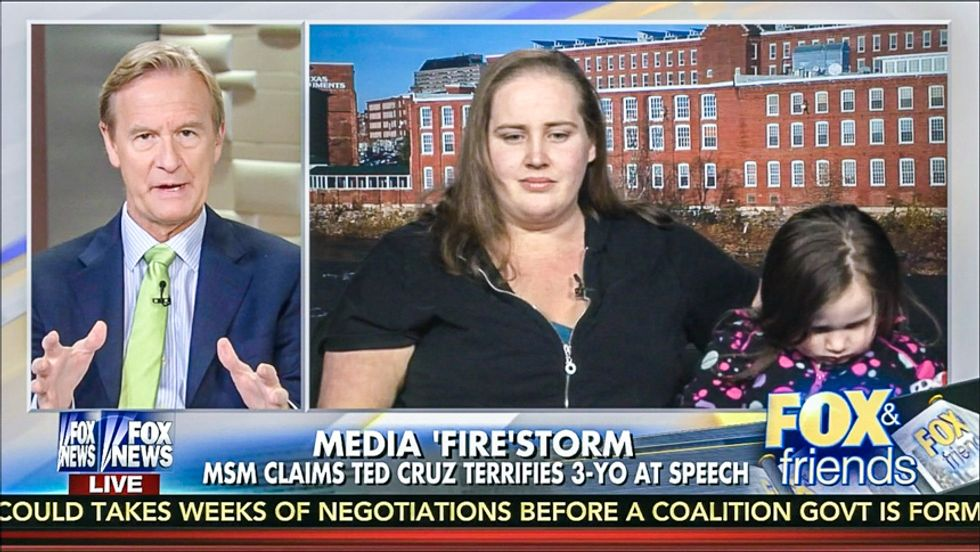 Mom tells Fox: Little girl not scared of Ted Cruz saying 'world is on fire' because he will 'save' us