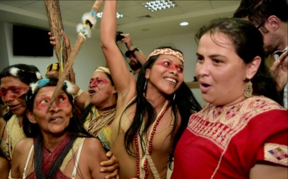 Ecuador Amazon tribe win first victory against oil companies