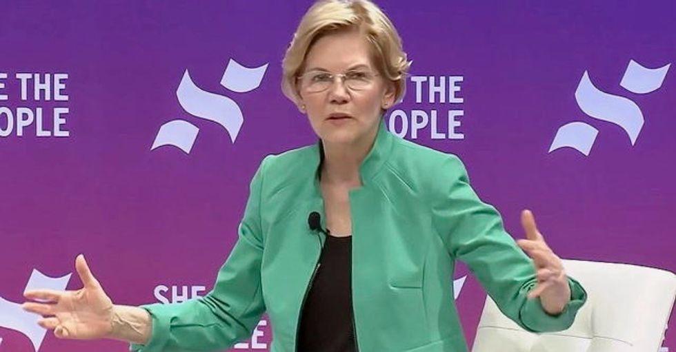 Elizabeth Warren jumps to second place