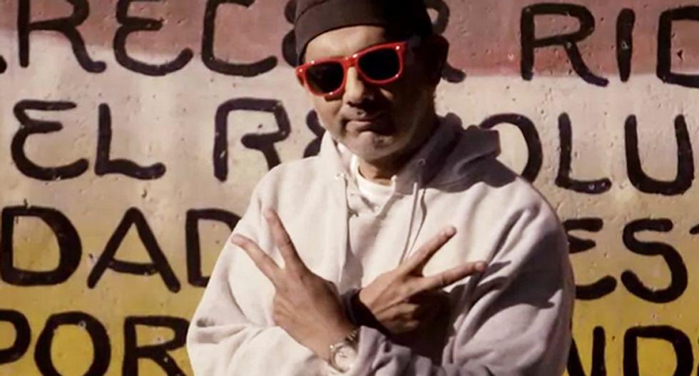 Goofball street thug Dinesh D'Souza is a sad and weird little man in sad and weird 'gangsta' video