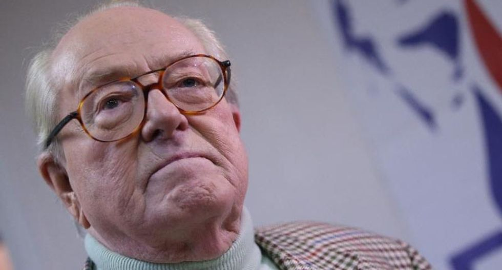Trump receives endorsement from Jean-Marie Le Pen, founder of France's racist National Front