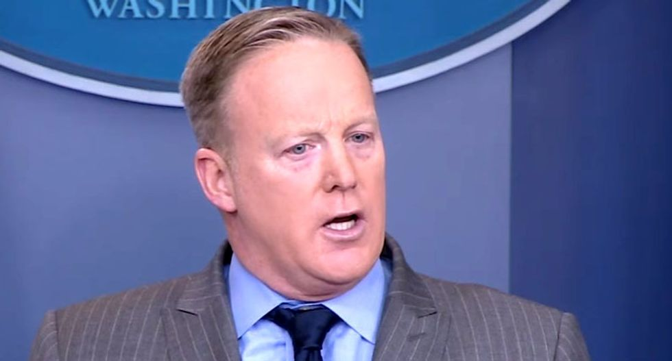 White House spokesman Sean Spicer may have violated federal rules with praise of strong jobs report
